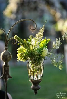 <3  hanging lantern with flowers