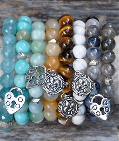 Semi Precious Gemstone Beaded Bracelets / Charms by BeadRustic
