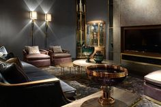 Officina Luce - Hall 8 Stand D22, Salone del Mobile WorldWide at Crocus Expo in Moscow. Luxury modern Italian lighting.