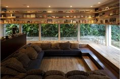 Gorgeous Lowered Living Room Design