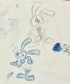 Epic Mickey, Oswald The Lucky Rabbit, Disney Fan Art, Dumb And Dumber, Pixar, Doodles, Disney Characters, Instagram, Pixar Characters