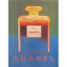 Blue and Green Andy Warhol 1997 Chanel No.5 Poster ($425) ❤ liked on Polyvore featuring home, home decor, wall art, music figurines, chanel, music posters, music paintings and fall paintings