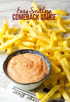A Spicy Perspective The Best Southern Comeback Sauce Recipe Sauce Recipes, Great Recipes, Dinner Recipes, Cooking Recipes, Favorite Recipes, Recipes With Dipping Sauce, Sauce For Fries, Best Sauce Recipe, Shrimp Dipping Sauce