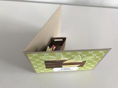 Stampin Up - Pop-Up-Karte - Limette - Kreativkiste - Obstkiste - Stempelset Lemon Zest - PDF Anleitung - Anleitung - Tutorial♥ StempelnmitLiebe