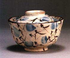 Late edo period Japanese ceramics, rice bowl, Seto ware