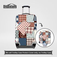 Dispalang Elastic Luggage Protective Cover For 18 to 30 Inch Trolley Suitcase Thick Dust Baggage Covers Women Travel Accessories Luggage Cover, Travel Luggage, Travel Bags, Trolley Case, Best Travel Accessories, Colorful Roses, Traveling By Yourself, Suitcase, Floral Prints