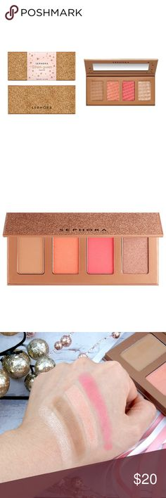 SEPHORA COLLECTION Winter Queen Palette An all-in-one palette for a beautiful complexion, featuring two blushes, one luminizer, and a bronzing powder.  Discover the perfect palette to enhance your complexion. Thanks to two beautiful blushes with intense pigments, a luminizer with a subtle shimmer, and a bronzing powder in a universal shade, this palette is your best ally for a healthy glow to suit every occasion.   This set contains: - 2 x 0.075 oz/ 2.14 g Blush  - 0.078 oz/ 2.21 g…