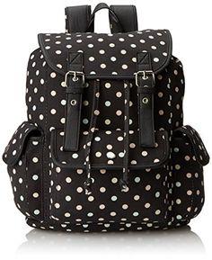Wild Pair Multicolor Polkadot Printed Backpack Handbag 0e31c2aeda760