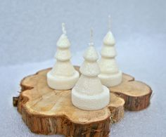 Festive Winter Wonderlans fragrance Candles covered with white glitter.