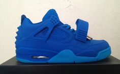 "NIKE AIR JORDAN 4 ""BLUE DECEMBER"" YEEZY REVELATION CUSTOM"