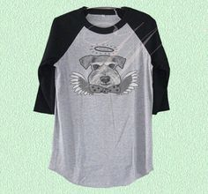 Dog cupid tshirt Schnauzer dog face art baseball tshirt men Grey Shirt, T Shirt, Schnauzer Dogs, Face Art, Cupid, Unisex, Baseball, Sweatshirts, Tees