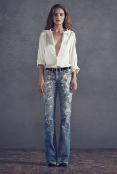 Lookbook – Rialto Jean Project Painted Jeans, Painted Clothes, Hand Painted, Flannel Lined Jeans, Denim Art, Tie Dye Shirts, Altering Clothes, Best Running Shoes, Denim Trends