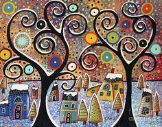 Winter Wonderland Painting by Karla Gerard