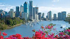 My pretty city, Brisbane. Great post on how to spend a three-day holiday in The Brizzle. Brisbane River, Brisbane Queensland, Queensland Australia, Brisbane Cbd, Things To Do In Brisbane, Great Barrier Reef, Sunshine Coast, Australia Travel, Australia Visa