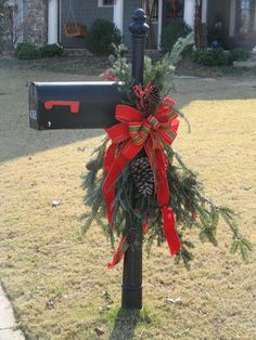 classic Christmas mailbox decoration photo