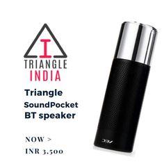 Get best deal with Triangle SoundPocket BT speaker Price: INR 3,500  View more: http://triangleindia.in/product/triangle-soundpocket-bt-speaker.html #Audio #CrazyDelhi #TriangleIndia #Pinterest #India