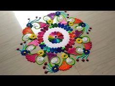 Rangoli designs for all FESTIVAL'S/easy & simple rangoli using bangles by jyoti Rathod Easy Rangoli Patterns, Easy Rangoli Designs Diwali, Rangoli Borders, Colorful Rangoli Designs, Rangoli Ideas, Rangoli Designs Images, Beautiful Rangoli Designs, Simple Rangoli, Mehandi Designs