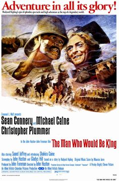 d35fc09459e Movie Poster for The Man Who Would Be King - one of the greatest adventure  movies