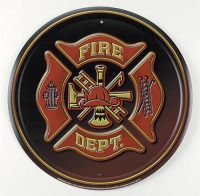 Old Fire Departments Metal Sign adds unique decor to your home or business. Every Fire Fighters Fireman collector would love this unusual gift. All Fire Departments Tin Signs are pre-drilled and ready to hang. Firefighter Home Decor, Firefighter Gifts, Fire Dept, Fire Department, Fireman Hat, Fire Equipment, Fire Signs, Metal Tins, Cool Posters
