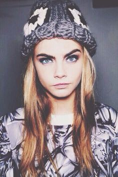 cara delevingne. -- getting a bit tired of seeing her everywhere but she's lovely in this picture!