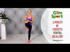 5 minute de exercitii de incalzire Pilates, Workout, Sports, Exercises, At Home Workouts, Pop Pilates, Hs Sports, Work Out, Sport