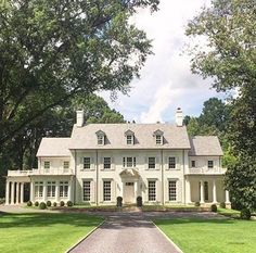 Things That Inspire A Classic White House Black Shutters Love This White Brick House With