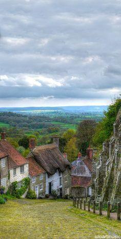 Beautiful Gold Hill, Shaftesbury, Dorset, England