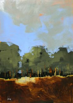Semi-abstract landscape original painting - Plantation