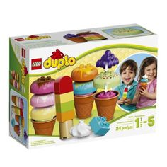 LEGO-Duplo-Creative-Ice-Cream-Large-Tactile-Bricks-Kids-Toys-Cones-Playing-Home