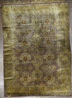 Turkish/kumkapi 4.5 X 5.10  silk  Mid 19th Century