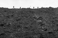 View from the bottom of one of 19 mine craters at Messines Ridge, June 1917