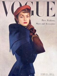 Jean Patchett, British Vogue, Oct.1948. Photo by Serge Balkin