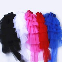 5c87f95ef Womens Half Bustle Tulle Tutu Skirts Burlesque Chemise Clubwear Rave Party  Dress | eBay
