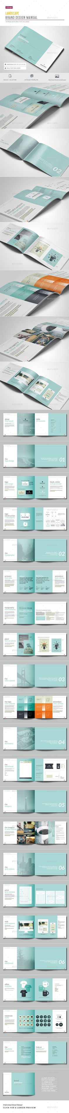 Brand Guidelines - 44 Pages Template InDesign INDD #design Download: graphicriver.net/...