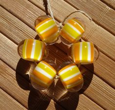 Candy Corn Striped Beads