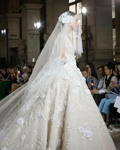 084f8f4b2d3 This Georges Hobeika Luxury Fairytale Weddng Gown made its debut on the  Paris runway and it is reported that an audible gasp was heard from the  audience the ...