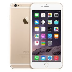 iPhone 6 Plus en color dorado ❤ liked on Polyvore featuring accessories, tech accessories, phone and phone cases