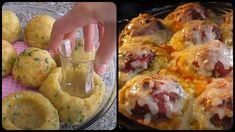 Εάν ψάχνεις ένα διαφορετικό πιάτο για αυτό το Σαββατοκύριακο, τότε μόλις το βρήκες! Μπάλες από πουρέ πατάτας, γεμιστές με μοσχαρίσιο κιμά! Εντυπωσιακό σε εμφάνιση και πολύ χορταστικό! Υλικά 7-8 πατάτες κανονικού μεγέθους 2 κουταλιές ελαιόλαδο 1 αυγό 1 κτγ αλάτι 1 Greek Recipes, Baked Potato, Mashed Potatoes, Cauliflower, Muffin, Pork, Baking, Vegetables, Breakfast