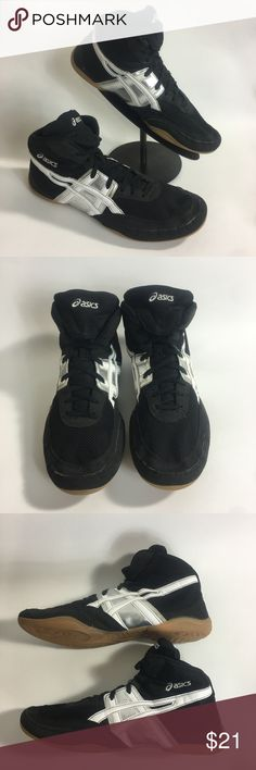 ASICS J902Y MATFLEX 2 Leather Wresting Shoes ASICS Men Sz 13 J902Y MATFLEX 2 Black Leather Athletic Wresting Shoes Good pre-owned condition, marker on interior tag of right shoe (see last pic) Sold as pictured  SHBL Asics Shoes Athletic Shoes