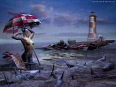 Guardian of Time~Andre Breton 3d Fantasy, Fantasy Kunst, Photomontage, Andre Breton, Modern Surrealism, Socialist Realism, Photoshop Me, Surrealism Photography, 3d Artwork