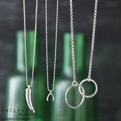 #Silpada Necklaces.  Fearless; Wishbone and Sweet Circles. www.mysilpada.com/cindi.vanderstreet