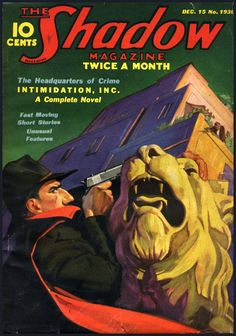 The Shadow Magazine of December, 1936, sported another dramatic cover.  In the complete novel inside, a criminal conglomerate proved unable to intimidate The Shadow.