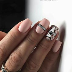 and Beautiful Nail Art Designs Nude Nails, Nail Manicure, Manicure Ideas, Funky Nails, Trendy Nails, Beautiful Nail Art, Gorgeous Nails, Art Deco Nails, Square Nails