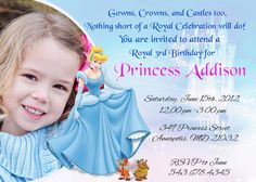 (holly) Cinderella Princess Birthday Party by SleepingOwlCreations on Etsy, $8.99