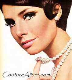 Couture Allure Vintage Fashion: 1963 Strong eyes, lighter pink lip