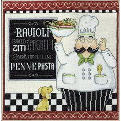 Pasta Chef Counted Cross Stitch Kit