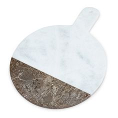 Gray And White Marble And Fossil Stone Cutting Board 'Two Stone Serving Board'