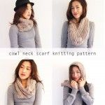 Free knitting pattern: Cowl neck convertible scarf