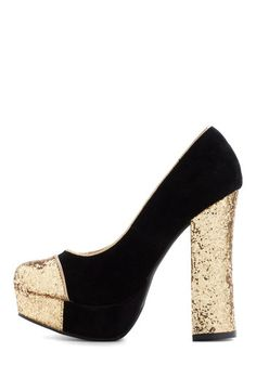 Gold Coast Heel in Black, #ModCloth