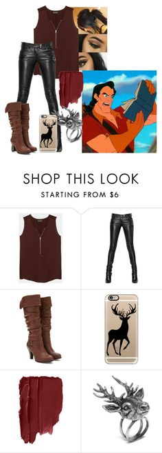 """""""Gaston - CASUAL"""" by blackest-raven ❤ liked on Polyvore featuring The Kooples, Balmain, Forever 21, Casetify and Mulberry"""
